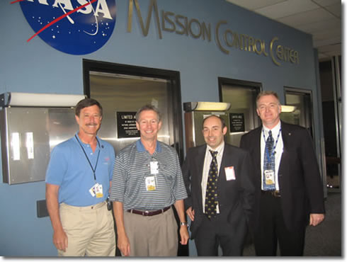 Nasa's Doc Horowitz, Mike Griffin and John Turner with Strathclyde's Tim Bedford.