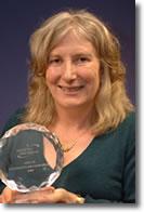 Lesley Hetherington with the SIFE UK university advisor award