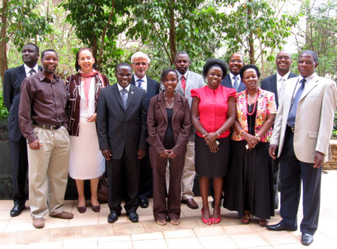 Professor Baum with Uganda Government, private sector and university participants after a presentation to a seminar on industry – education partnerships